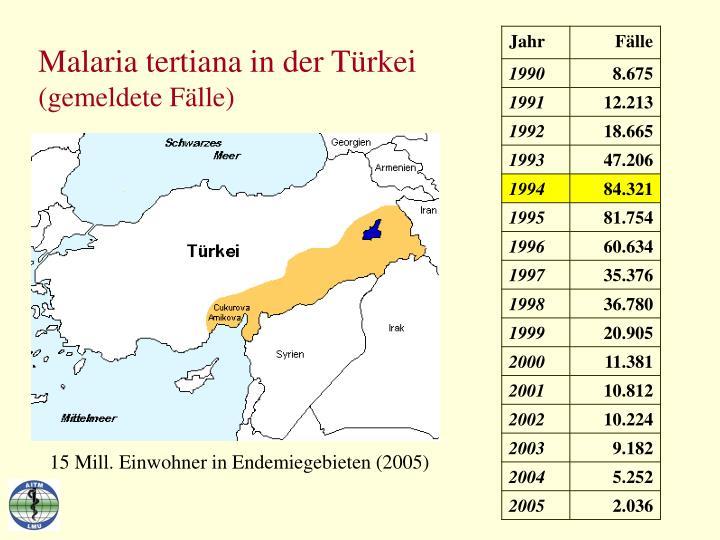 Malaria tertiana in der Türkei