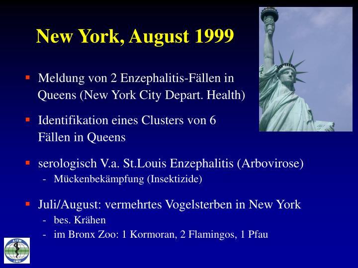 New York, August 1999