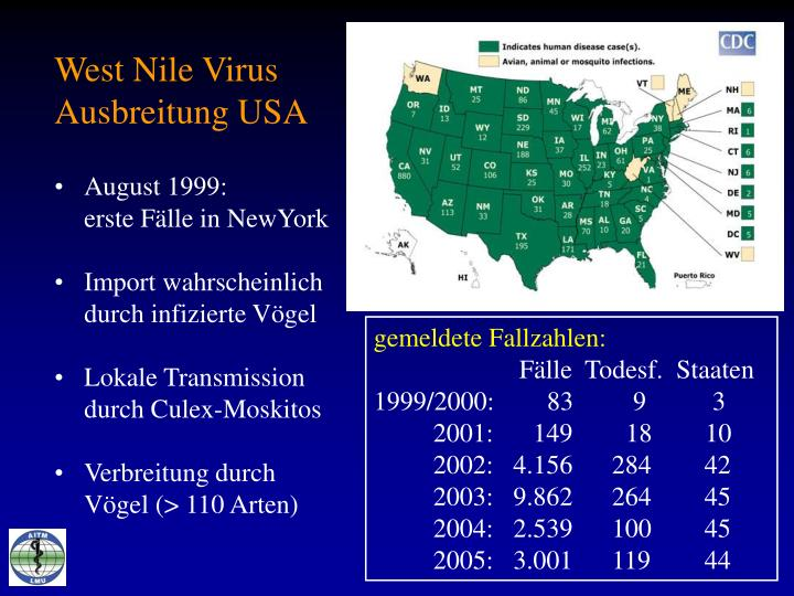 West Nile Virus Ausbreitung USA