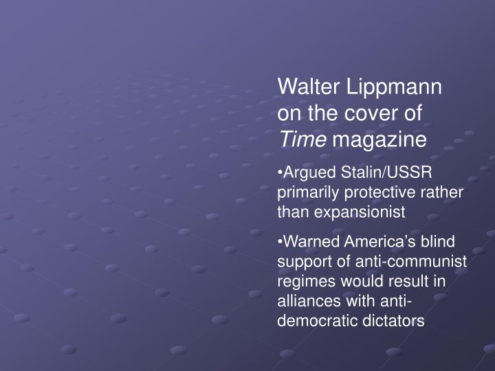 Walter Lippmann on the cover of