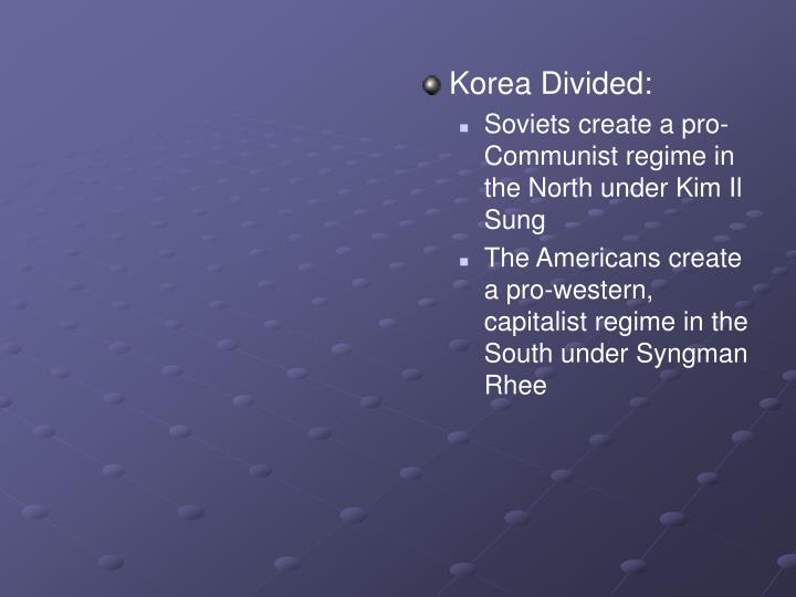 Korea Divided: