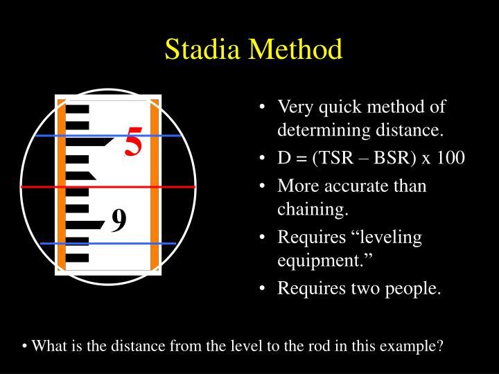 Stadia Method