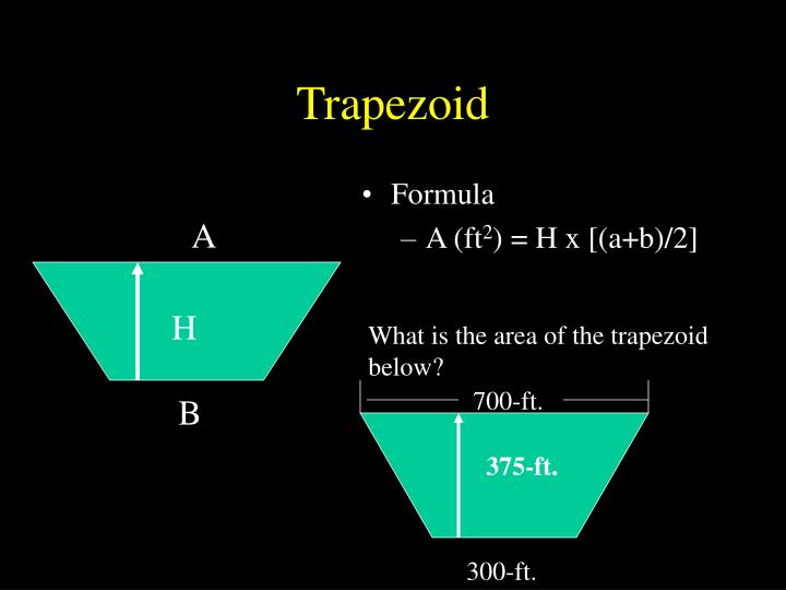 What is the area of the trapezoid below?