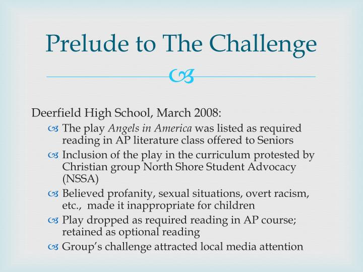Prelude to The Challenge