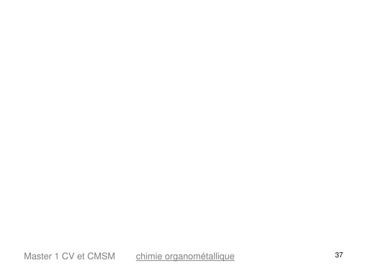 Master 1 CV et CMSM