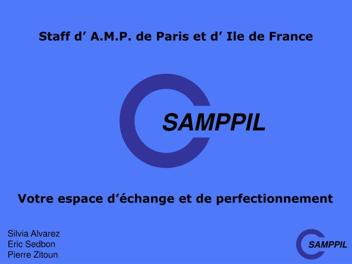Staff d' A.M.P. de Paris et d' Ile de France