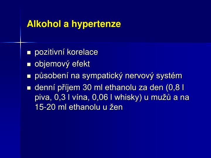 Alkohol a hypertenze