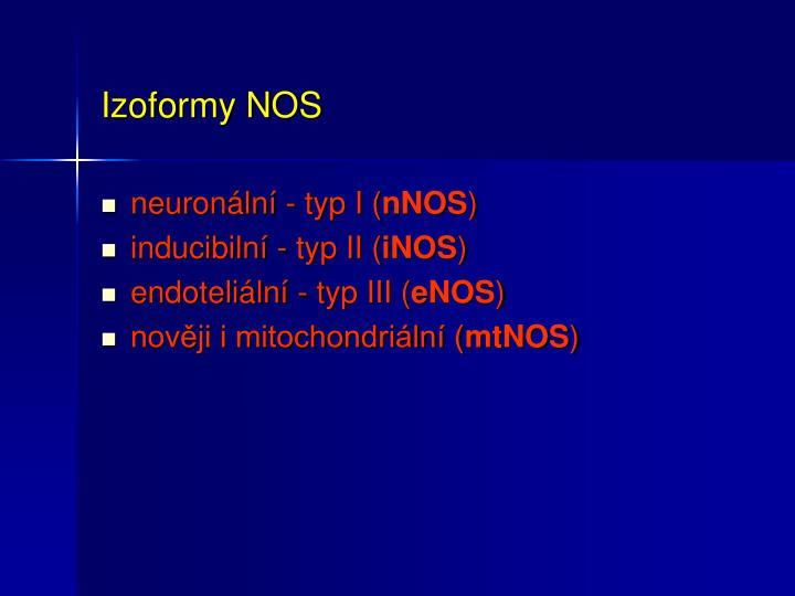 Izoformy NOS