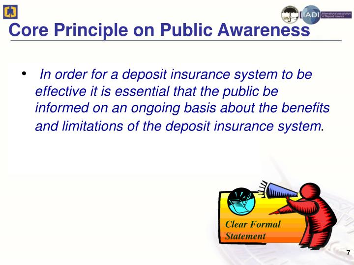 Core Principle on Public Awareness