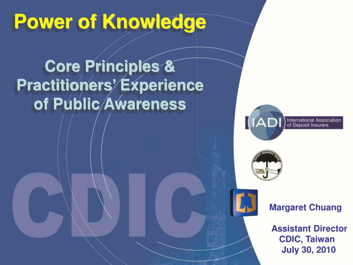 Power of knowledge core principles practitioners experience of public awareness