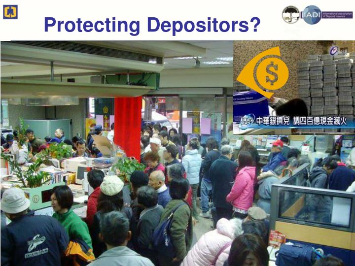 Protecting depositors