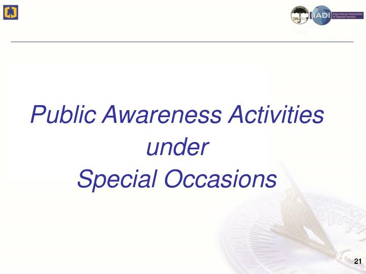 Public Awareness Activities