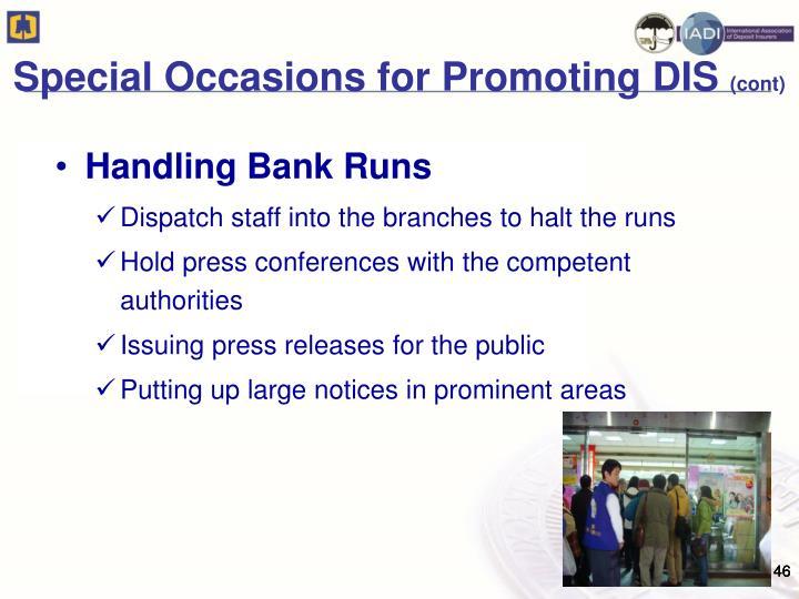 Handling Bank Runs