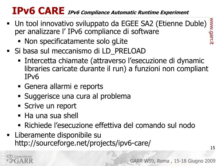 IPv6 CARE