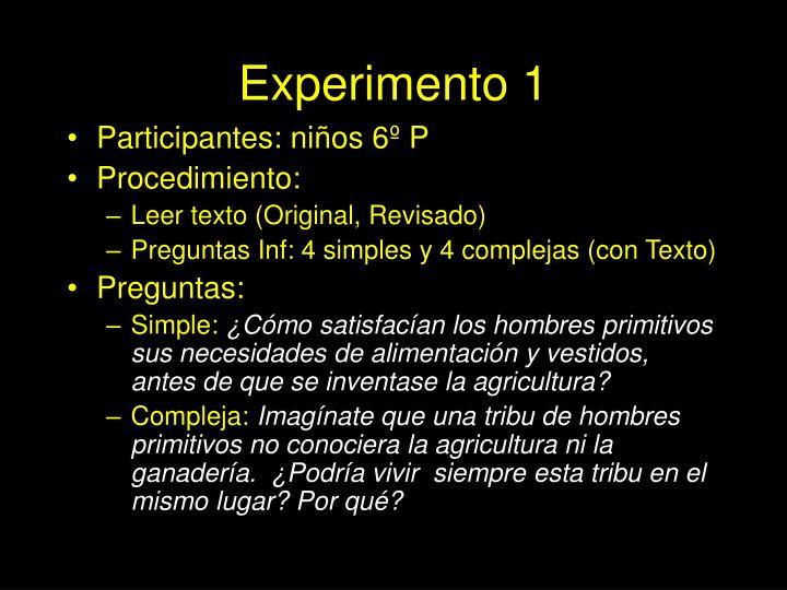 Experimento 1