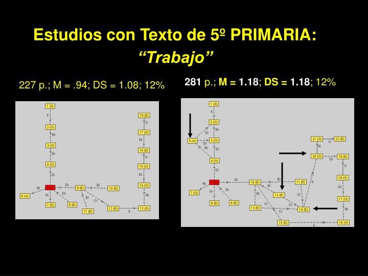 Estudios con Texto de 5º PRIMARIA: