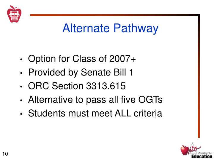 Alternate Pathway