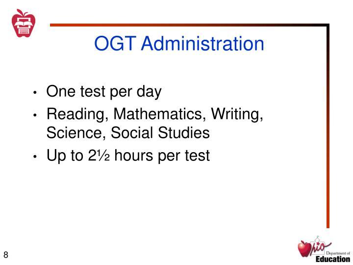 OGT Administration