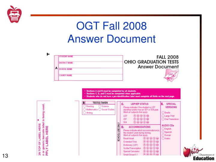 OGT Fall 2008