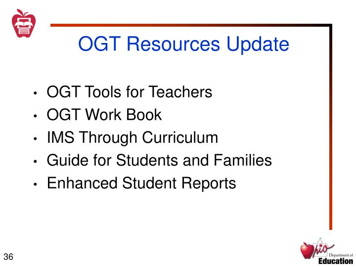 OGT Resources Update