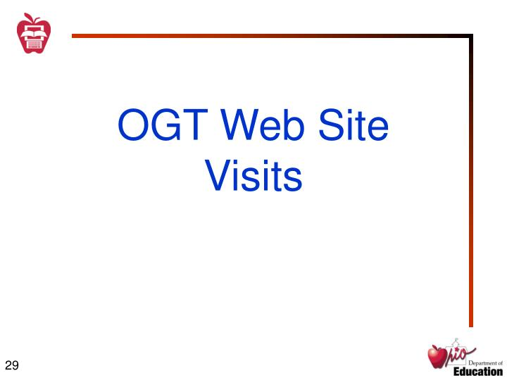 OGT Web Site Visits