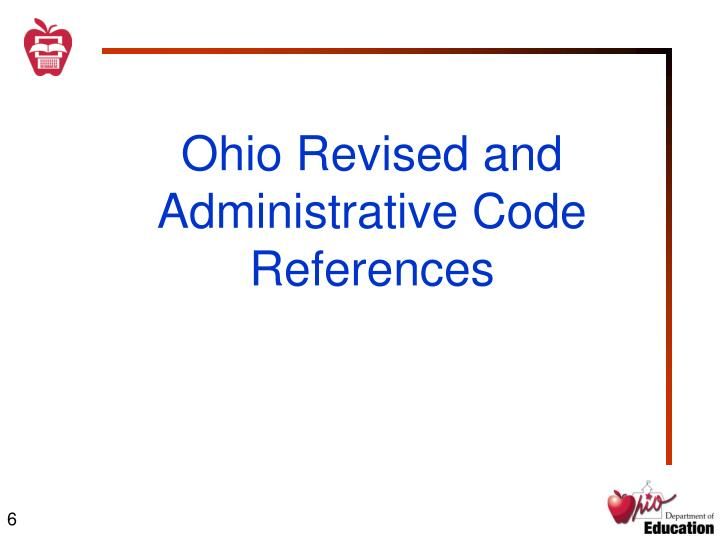 Ohio Revised and Administrative Code References