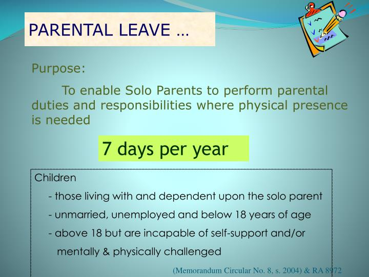 PARENTAL LEAVE …