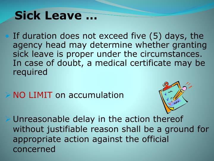 Sick Leave …