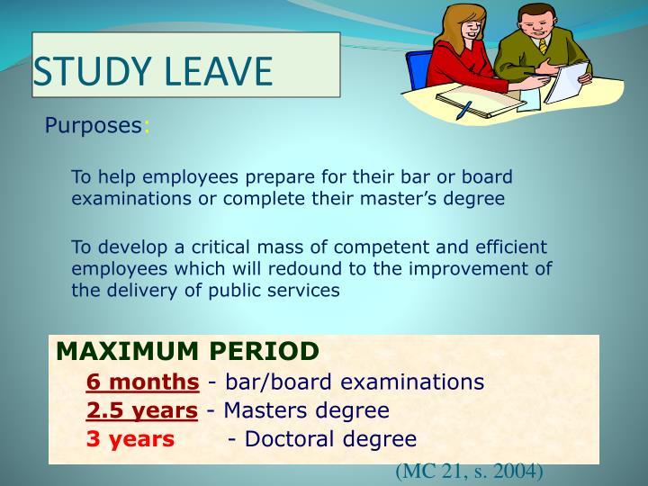 STUDY LEAVE