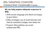 rfes targeting computer consulting companies contd