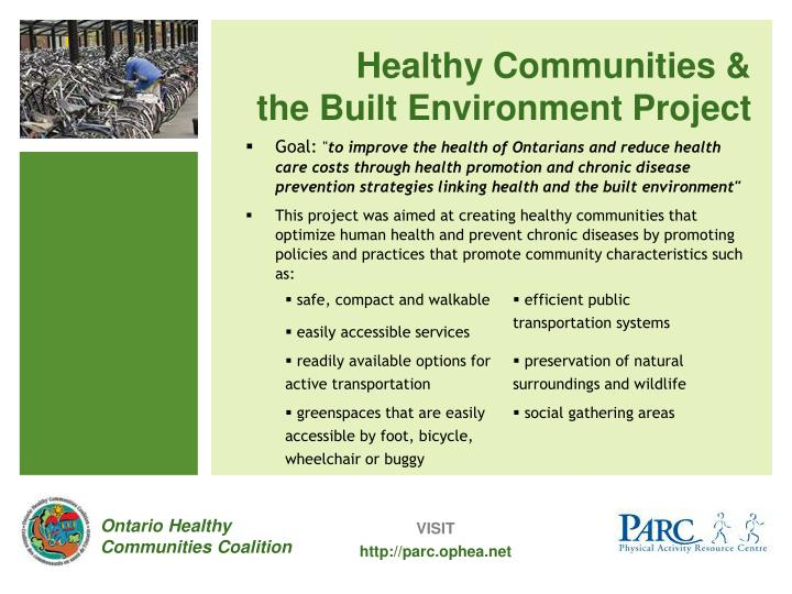 Healthy Communities &