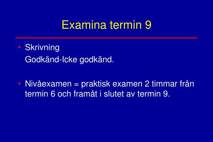 Examina termin 9