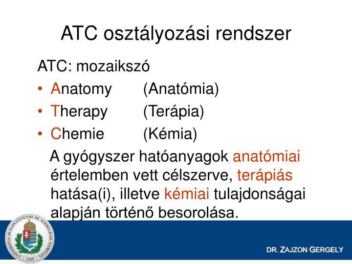 ATC osztlyozsi rendszer