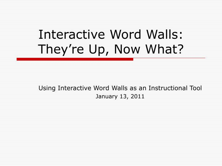 interactive word walls they re up now what