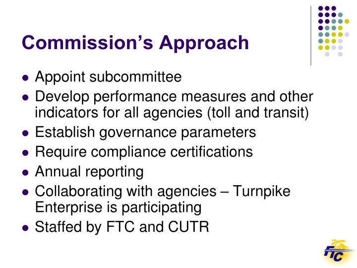 Commission's Approach