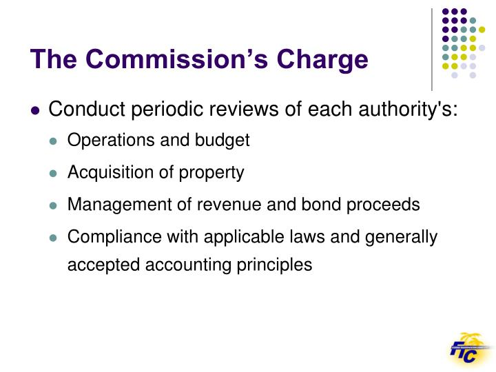 The commission s charge1