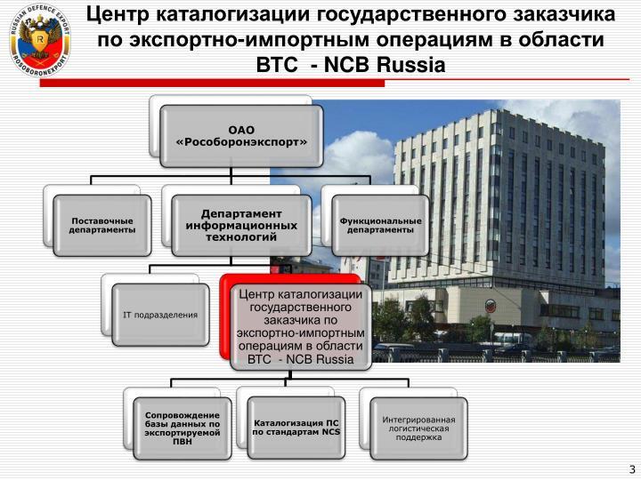 Центр каталогизации государственного заказчика по экспортно-импортным операциям в области ВТС  -