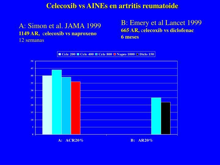 Celecoxib vs AINEs en artritis reumatoide