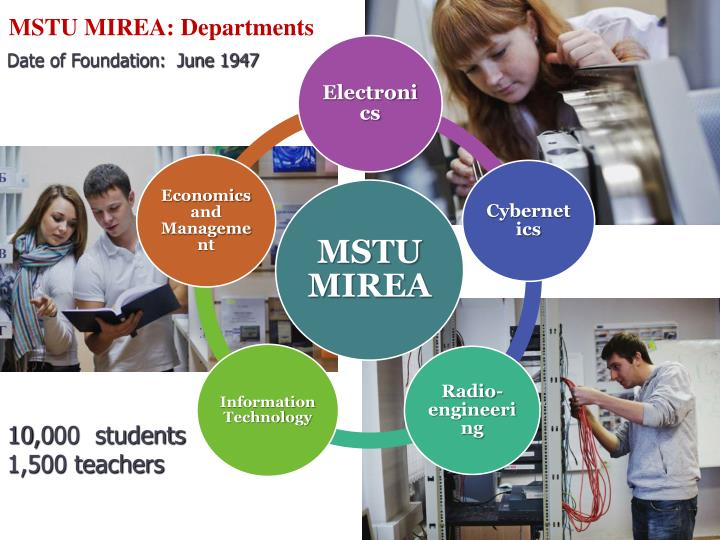MSTU MIREA: Departments