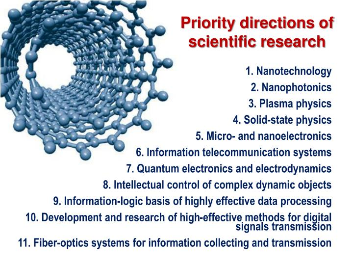Priority directions of scientific research