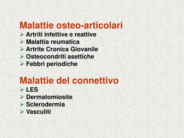 Malattie osteo-articolari