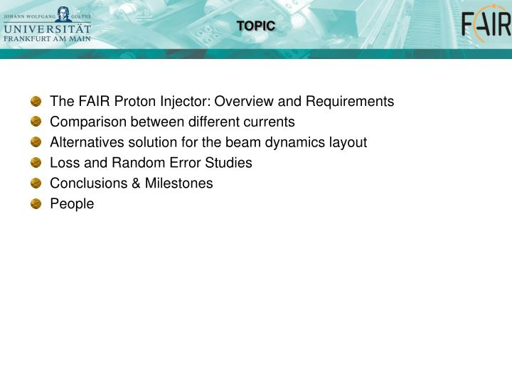 The FAIR Proton Injector: Overview and Requirements