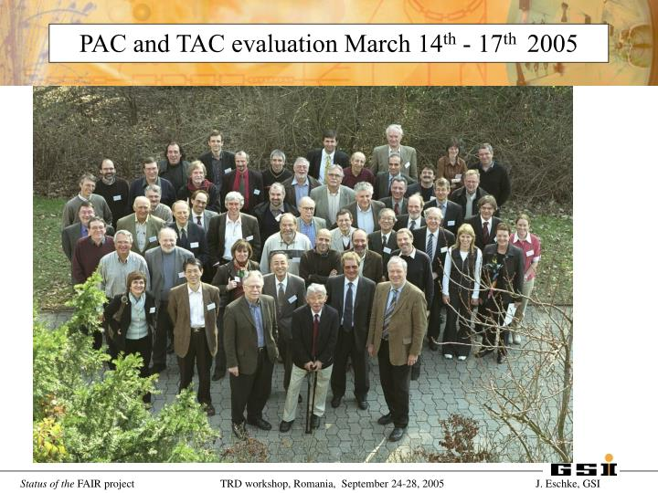 PAC and TAC evaluation March 14