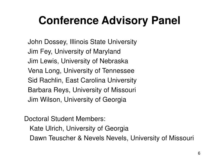 Conference Advisory Panel