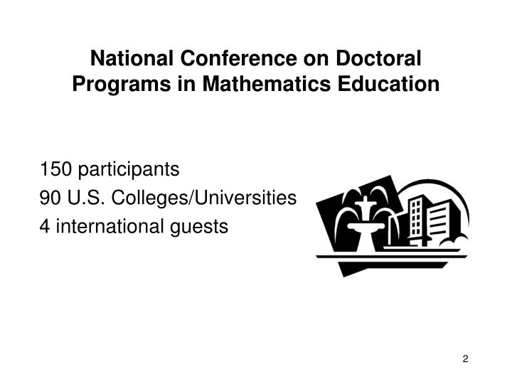 National conference on doctoral programs in mathematics education1