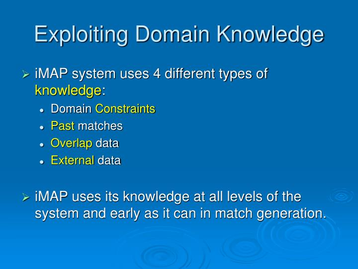 Exploiting Domain Knowledge