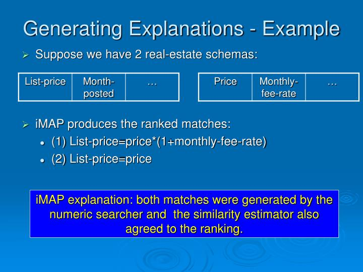 Generating Explanations - Example