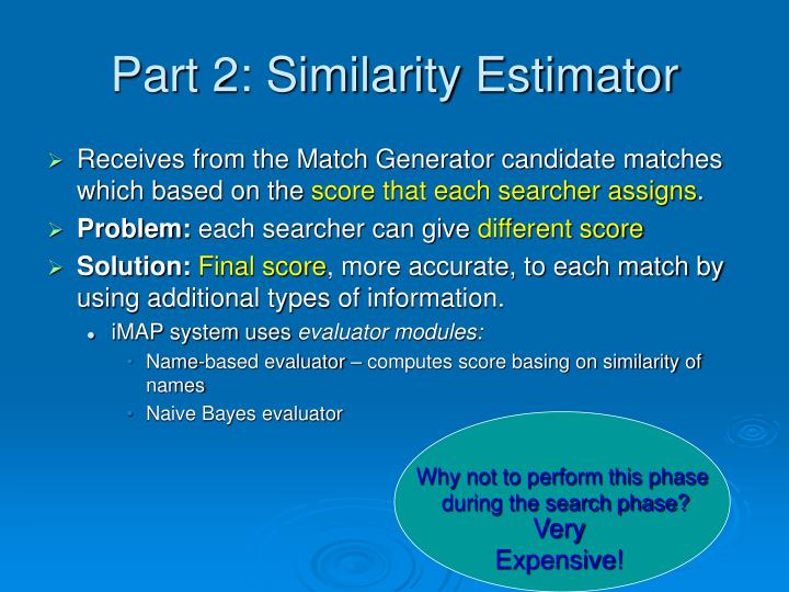 Part 2: Similarity Estimator