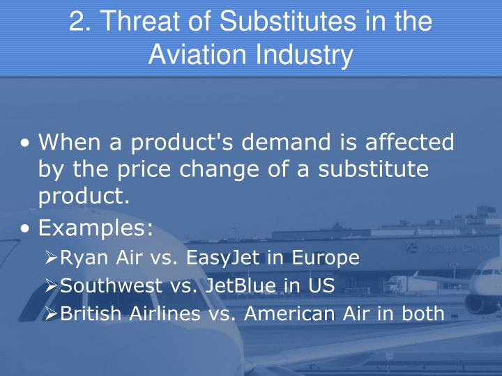 2. Threat of Substitutes in the       Aviation Industry