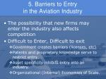 5 barriers to entry in the aviation industry